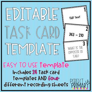 Editable Task Card Template