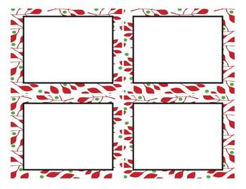 Editable Task Card Template - Christmas
