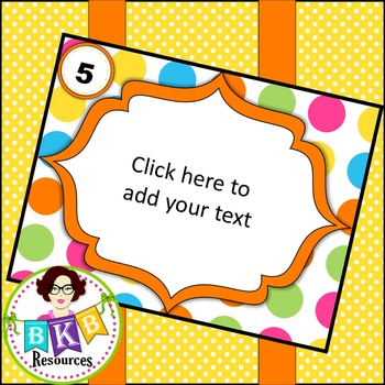 Editable Task Card Template {Graphics for Commercial Use}