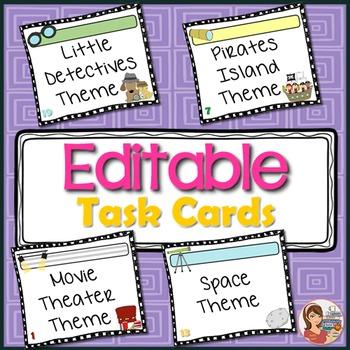 Editable Task Card Templates