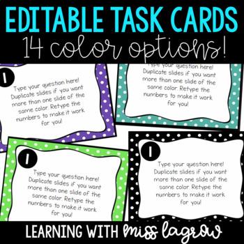 Editable Task Card Templates Designs