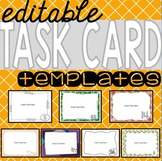 Editable Task Card Templates {7 sets}