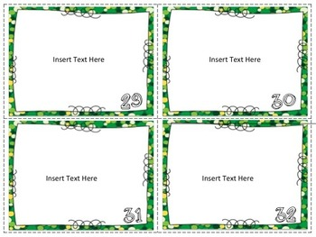 Editable Task Card Templates {7 sets}