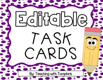 Editable Task Cards