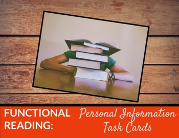 Editable Task Cards: Identify personal info