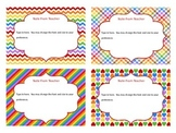 Editable Task Cards (Rainbow colors)