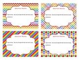 Editable Task Cards (Rainbow colors)