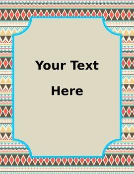 Editable Task Cards in Aztec Print