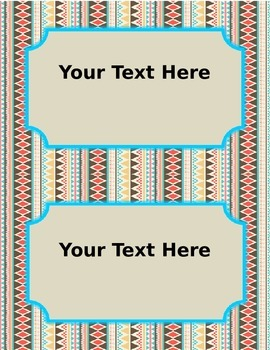 Editable Task Cards in Aztec Print