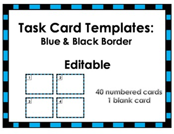 Task Card Templates in various colors