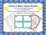 Editable Task or Flash Cards- SPACE ALIENS Template Blank