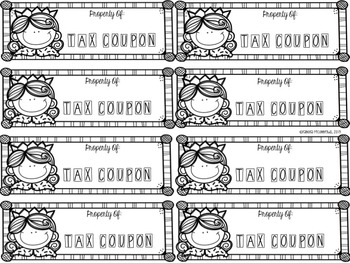Editable Tax Coupon Game for American Revolution