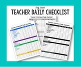 Editable Teacher Afternoon Checklist