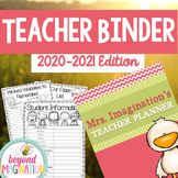 Teacher Planner 2017-2018 Editable Free Updates Coral & Mint