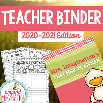 Teacher Binder Editable 2018-2019