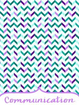 Editable Teacher Binder: 17-18 Purple and Teal Geometric