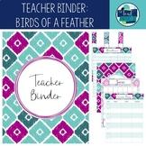 Editable Teacher Binder 18-19: Teal, Magenta, Aqua