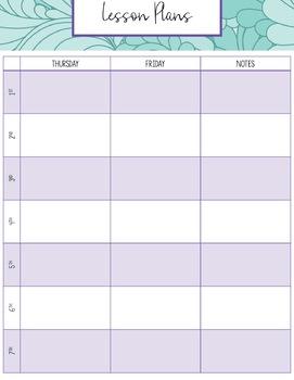 Editable Teacher Binder 18-19: Purple and Teal