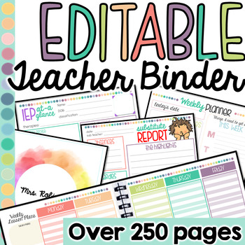 Editable Teacher Binder #SPEDchristmas3