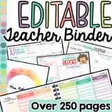 Teacher Binder (Editable Teacher Planner)