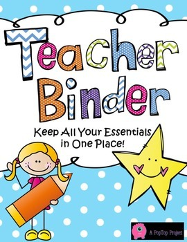 Editable Teacher Binder-Completely Editable Pages! Includes Substitute Binder!