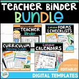 Editable Teacher Binder BUNDLE – Click, Type, Print Templates!