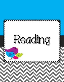 {Editable Teacher Binder} Bird Theme with Blue Background