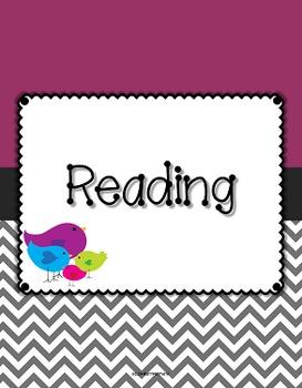 {Editable Teacher Binder} Bird Theme with Purple Background