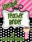 Editable Teacher Binder Black Dots