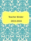 Editable Teacher Binder (Blue and Yellow)