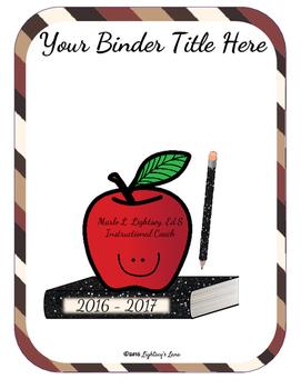 Editable Teacher Binder Bundle (Cappuccino)