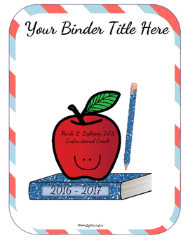 Editable Teacher Binder Bundle (Patriotic Stripes)