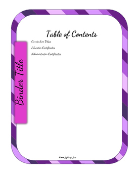 Editable Teacher Binder Bundle (Purple Passion)