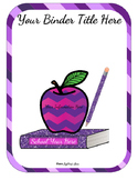 Editable Teacher Binder Bundle (Purple Passion)