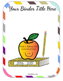 Editable Teacher Binder Bundle (Rainbow)