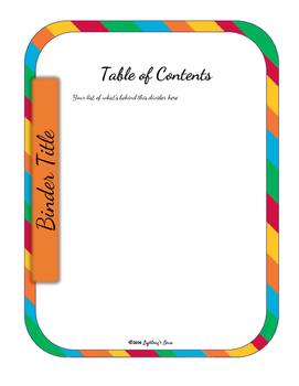 Editable Teacher Binder Bundle (Tropical Punch)