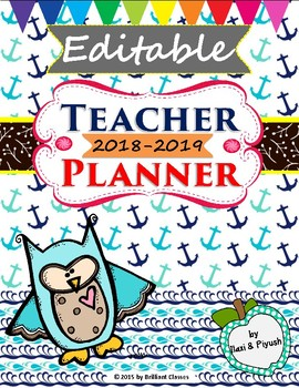 Editable Teacher Binder - Calendar Planner/Forms/Binder Covers