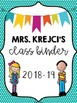 Editable Teacher Binder Cover