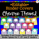 *Editable* Teacher Binder Cover & Spines - Chevron