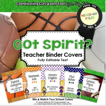 Got Spirit Editable Binder Covers