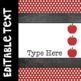 Just Dots Editable Binder Covers