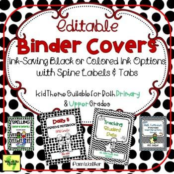 Editable Teacher Binder Covers