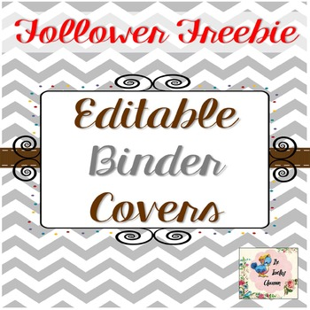 Editable Teacher Binder Covers {Chevron} -FREEBIE TheTravelingclassroom