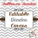 Editable Teacher Binder Covers {Chevron} -FREEBIE TheTrave
