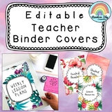 Editable Teacher Binder Covers / Folder Covers