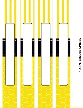 Binder Covers {EDITABLE Honey Themed}