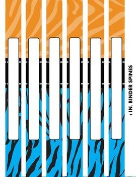 EDITABLE Binder Covers and Spines {Safari Themed}