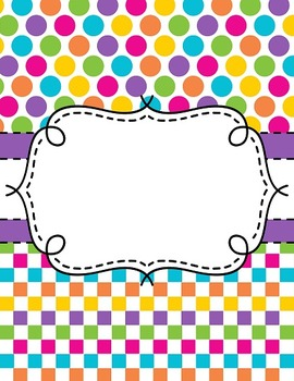 Editable Teacher Binder Covers: Stripes, Squares, and Polka Dots with Spines