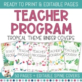 Editable Teacher Binder Covers - Tropical