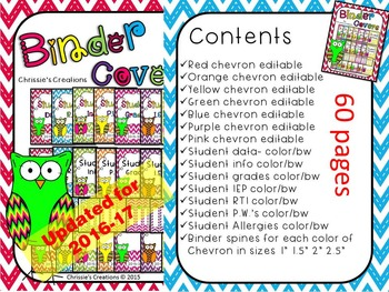 Binder Covers:  and Spines Cute owl theme